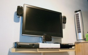 Altura tv pared cocina
